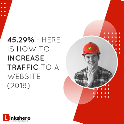 45.29% – Here Is How to Increase Traffic to a Website (2018 Case Study)